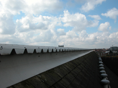 AMC offer asbestos and GRP replacement of industrial units fitted with corrugated roofs